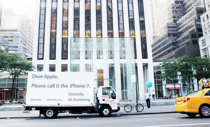 6S Marketing a un message pour Apple