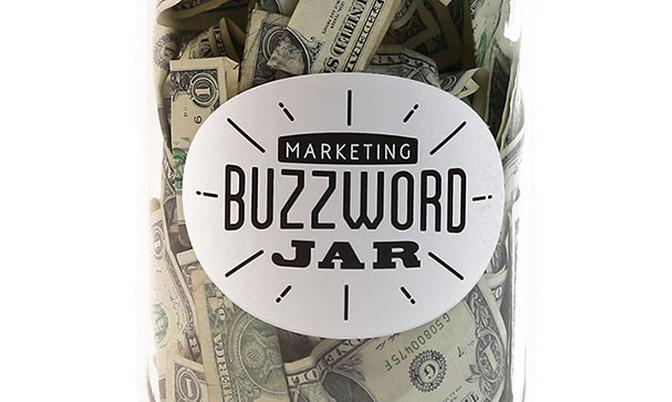 Marketing Buzzword Jar : La boîte à gros mots pour agences