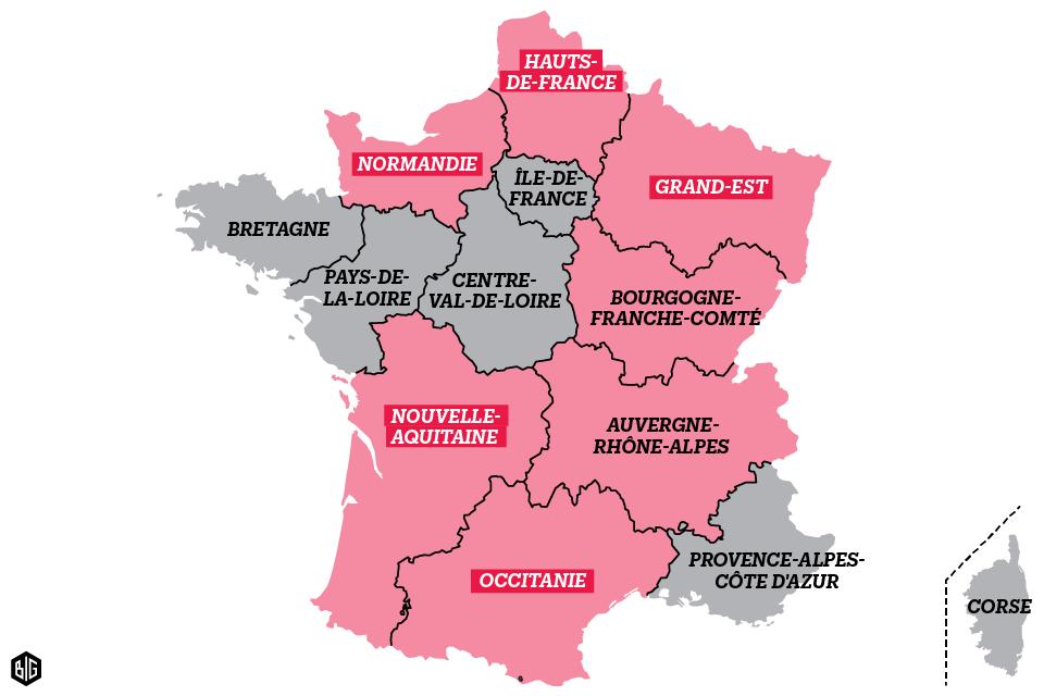 Changement de nom régions