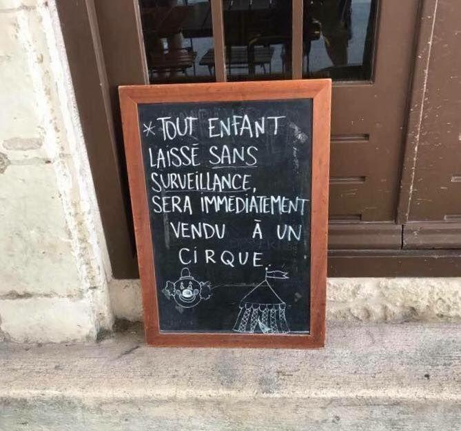 Pancarte Message Humour (1)