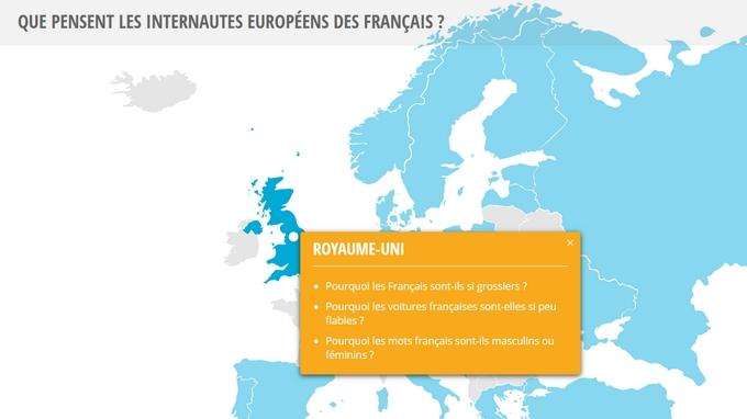 Recherches Google : les Européens à propos des Français